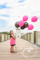 Lakeland Child Photographer Pink and Black Balloons.jpg