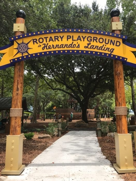 Rotary Playground Lake Parker Lakeland Entrance