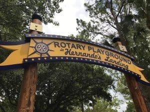 Rotary Playground Lakeland Lake Parker Sign