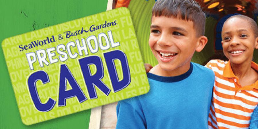 Seaworld Busch Gardens Preschool Pass Free Admission For 5 Under In 2018