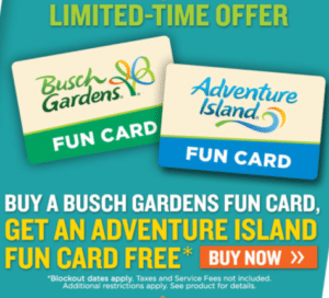 busch gardens tampa free preschool pass fun card prices