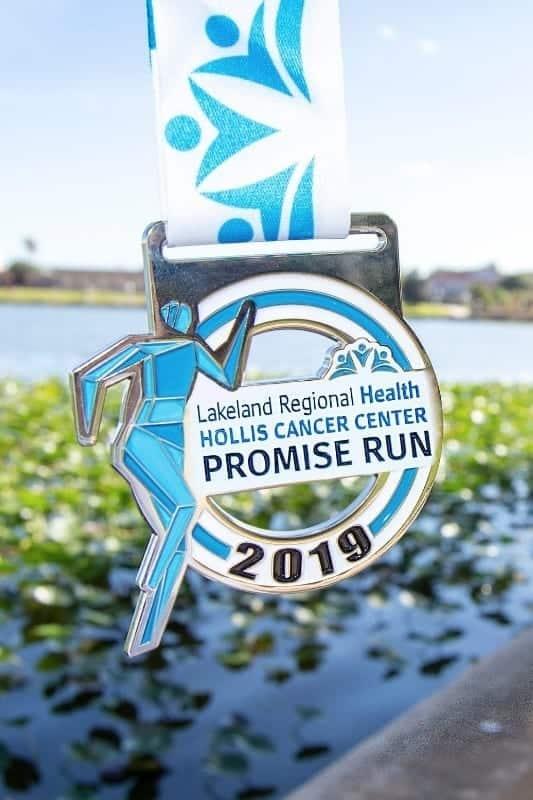 Lakeland Regional Health Hollis Cancer Center Promise Run Medal
