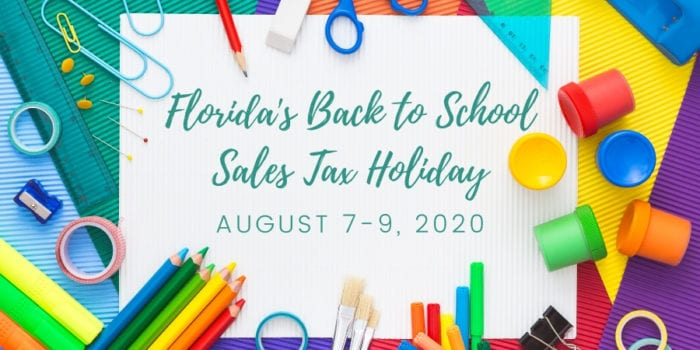 Back to School Sales Tax Holiday Florida