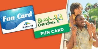 Sea World Busch Gardens Fun Card 2019 2020 Free