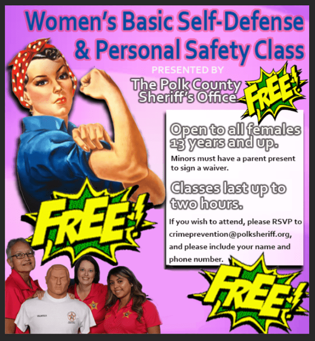 Polk Sheriff Women's Self Defense Class