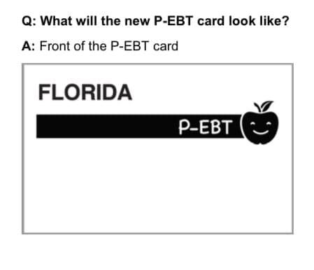 Florida P-EBT Card