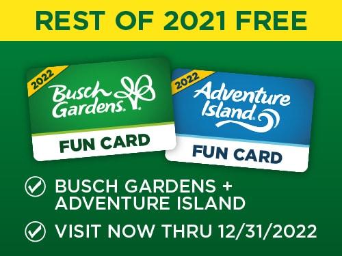 Busch Gardens 2022 Fun Card Coupon Code