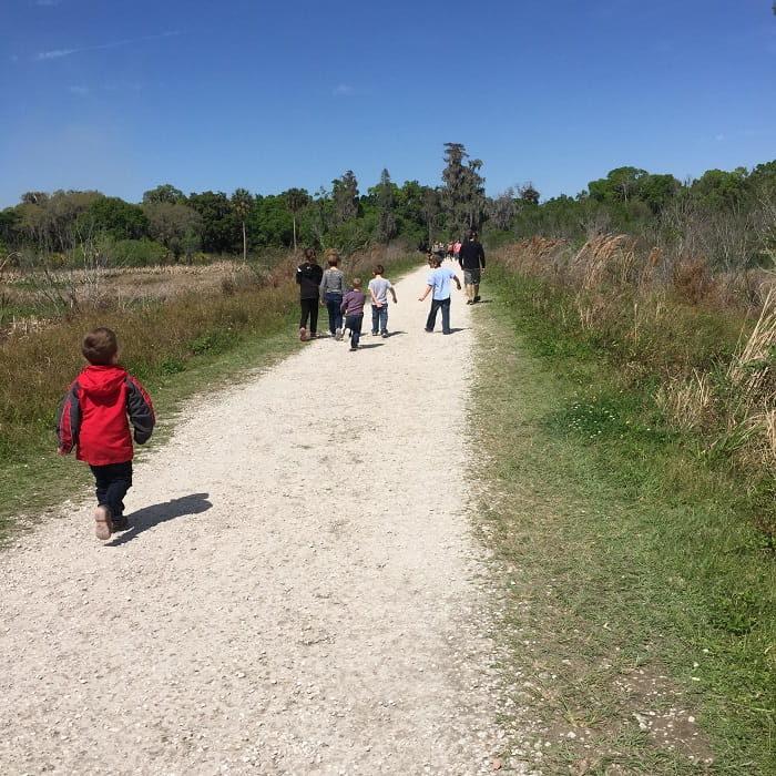 Kids Hiking at Circle B Bar Reserve