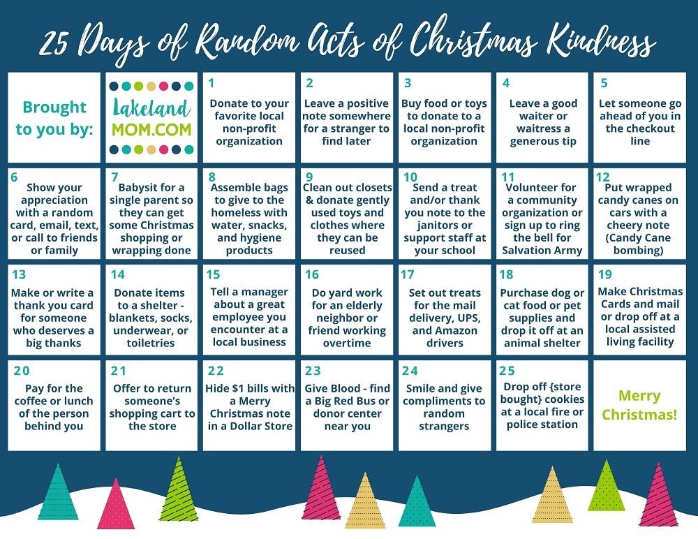 25 Days Random Acts of Christmas Kindness