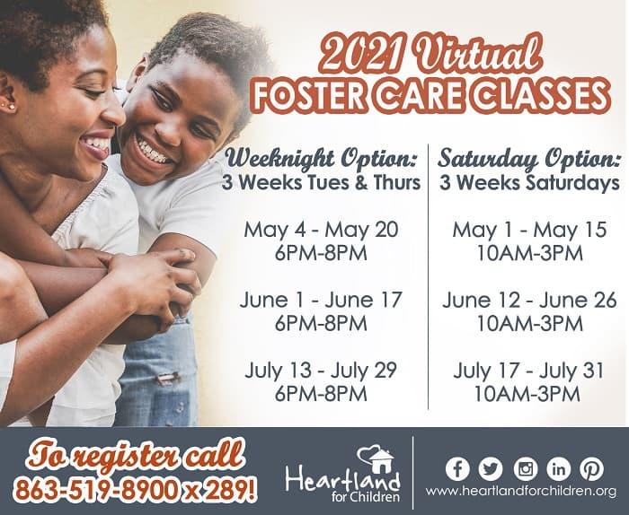 2021 Foster Class Schedule