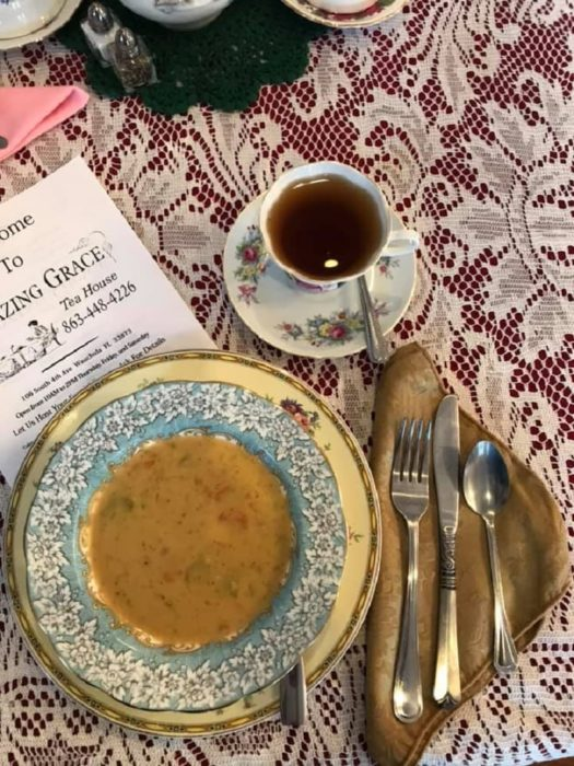 Amazing Grace Tea House Menu